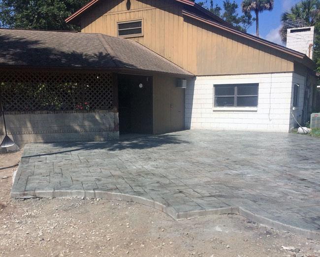 Custom Stamped Concrete Patio Cocoa, Florida - 34