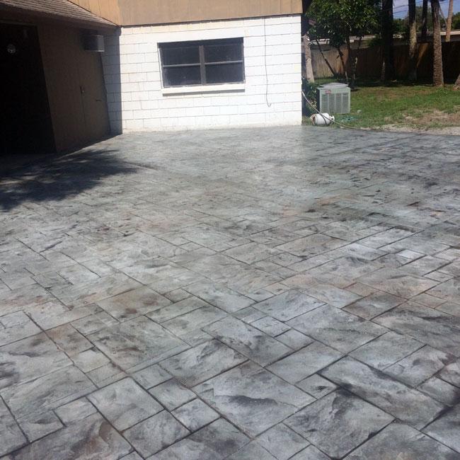 Custom Stamped Concrete Patio Cocoa, Florida - 35