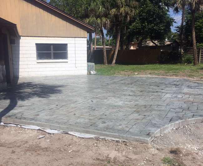 Custom Stamped Concrete Patio Cocoa, Florida - 36