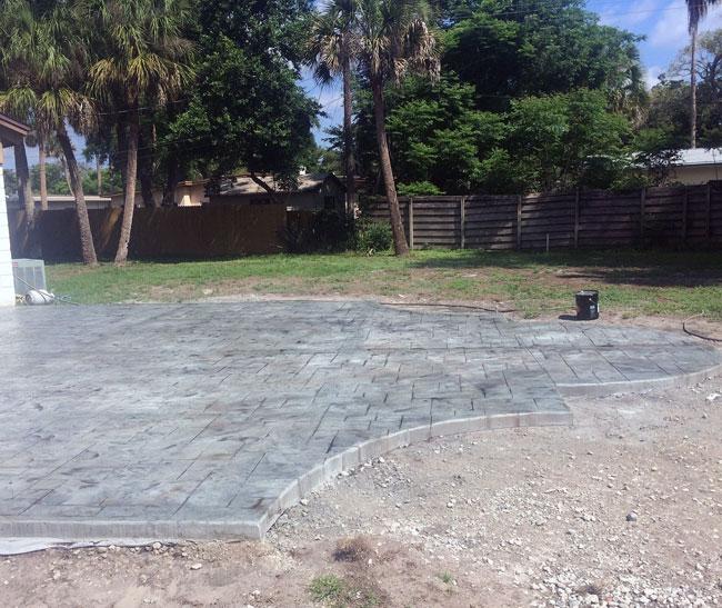 Custom Stamped Concrete Patio Cocoa, Florida - 37