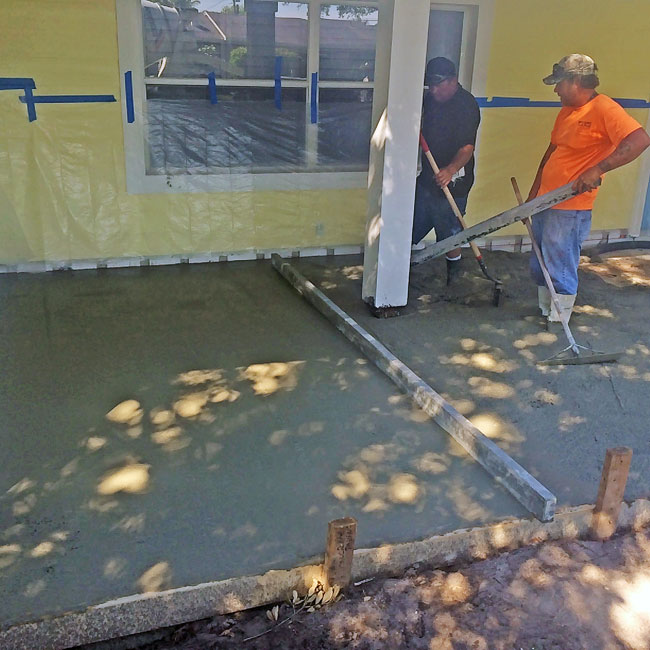 Merritt Island FL concrete sidewalk and patio - 02