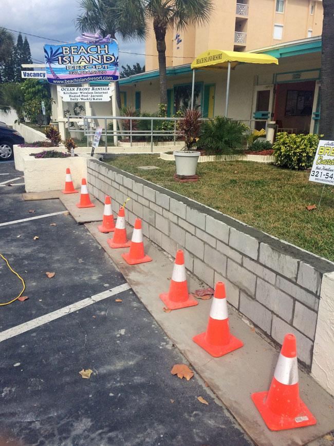 Beach Island Resort Concrete Block Stucco - 10