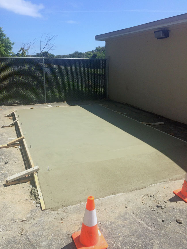 Beachside Storage Concrete Foundations Indialantic, Florida 07