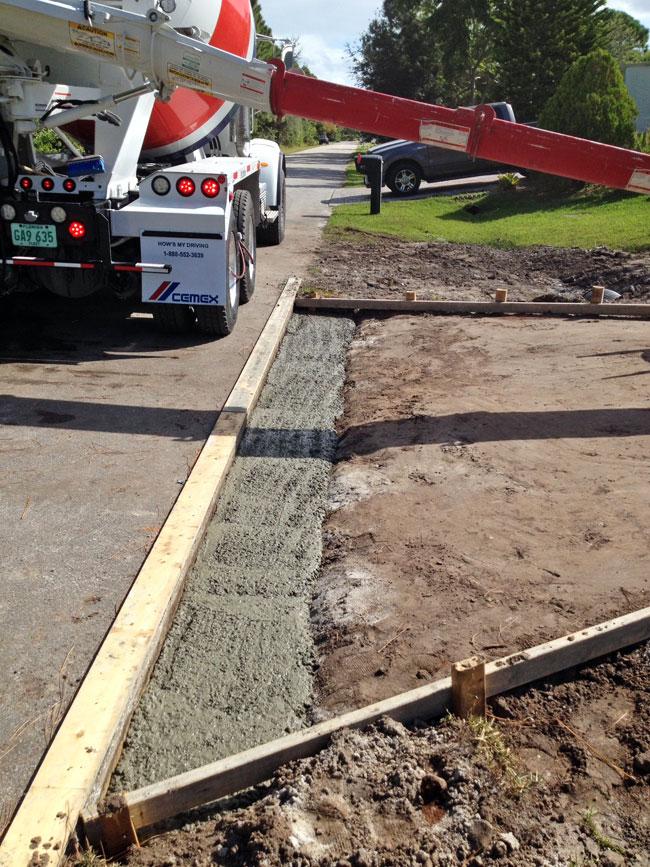 Concrete Driveway and Culvert Palm Bay, Florida 07