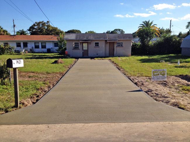 Cocoa Florida Concrete Driveway - 07