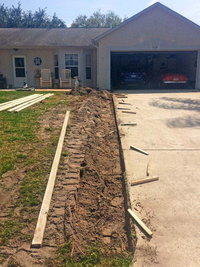 Concrete Driveway Extension Cocoa, Florida - 01