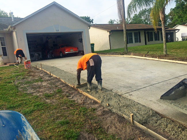 Concrete Driveway Extension Cocoa, Florida - 06
