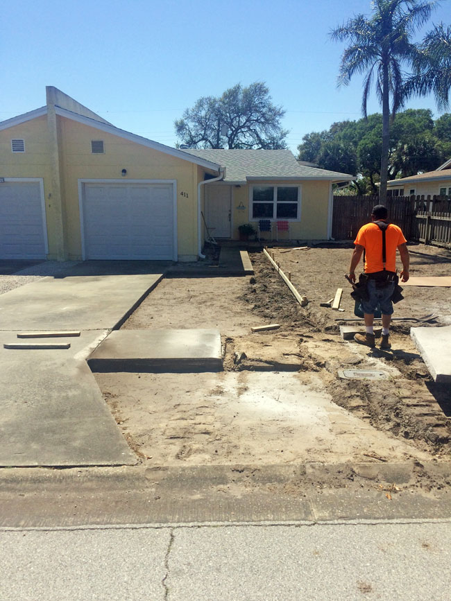 Concrete Driveway & Sidewalk Cape Canaveral - 01