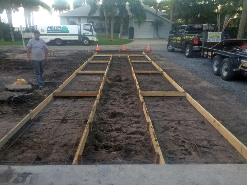Custom Concrete Driveway Merritt Island FL - 01