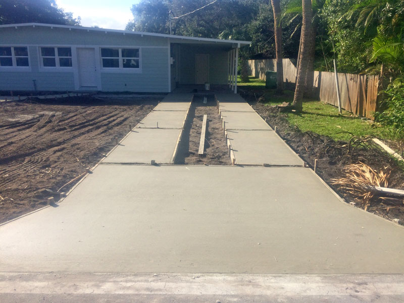 Custom Concrete Driveway Merritt Island FL - 09