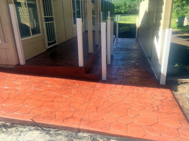 Decorative stamped concrete Cocoa contractor - 13