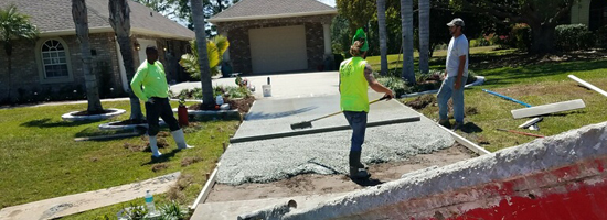 New residential concrete driveway - Mims Florida - Main